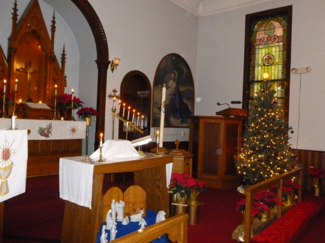 Zion decorated for Christmas.
